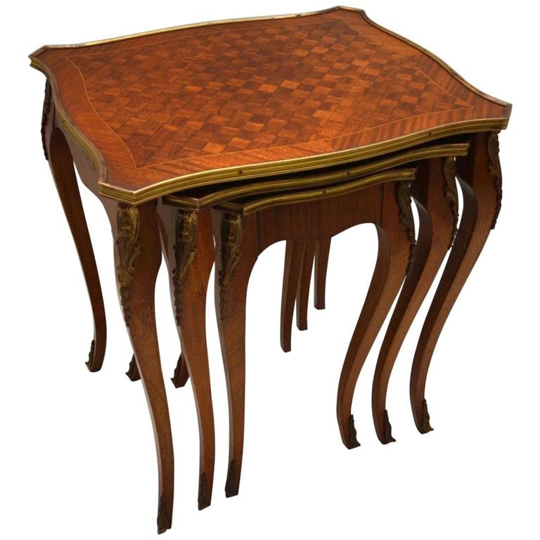Antique French Parquetry Nest Of Tables For Sale At 1stdibs
