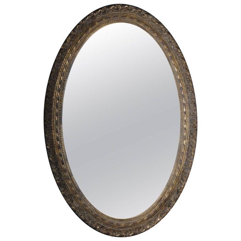 Medallion-Shaped Full-Length Mirror Louis XVI