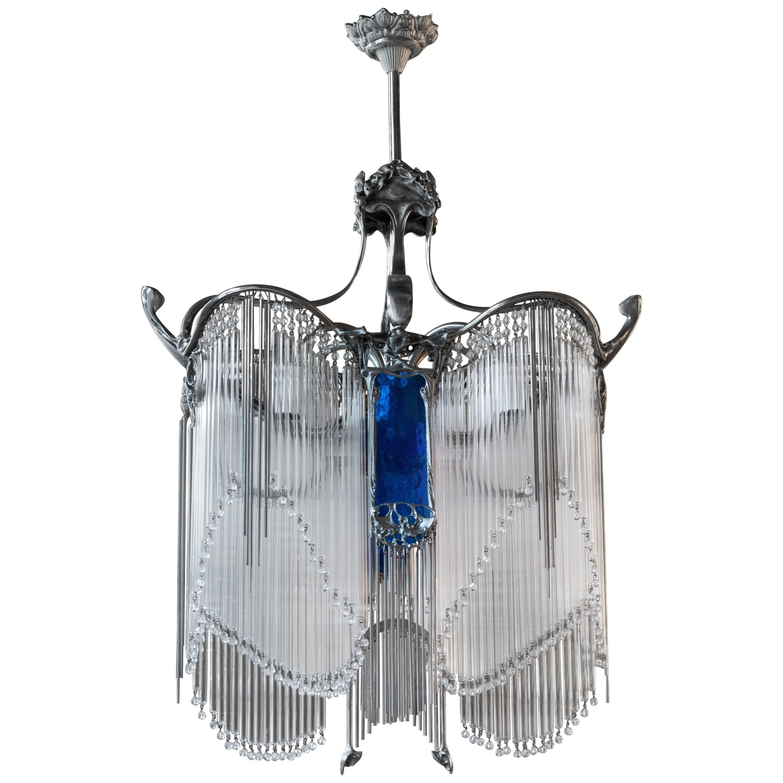 Art Nouveau Guimard Chandelier Art Nouveau Chandeliers