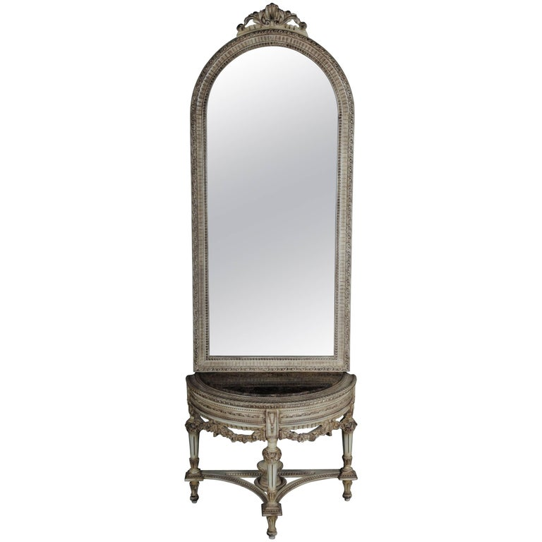 Beautiful Console Mirror in the Louis XVI For Sale