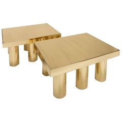 Two Coffee Table Gold Model by Studio Superego, Italy