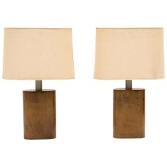 Pair of Lamps Designed by Aldo Tura, circa 1960, Italy