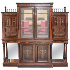 19th Century Aesthetic Movement Display Cabinet by Lamb of Manchester