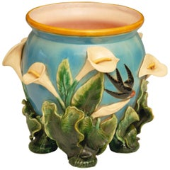 Edwardian Liberty of London Majolica Jardinière or Cachepot