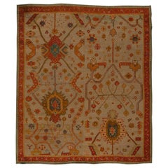 Vintage Turkish Oushak Rug 'Size Adjusted'