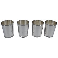 Set of Four American Sterling Silver Mint Julep Cups