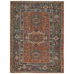Antique Hand-Knotted Persian Karajeh Rug