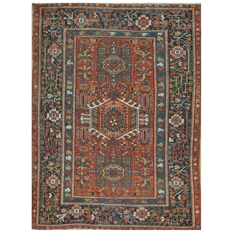 Antique Hand-Knotted Persian Karajeh Rug For Sale At 1stdibs