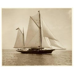 Yacht Daring, Early Silver Photographic Print by Beken of Cowes