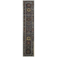 Long Handmade Antique Persian Runner Rug