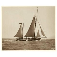 Yacht Palatina, Early Silver Photographic Print by Beken of Cowes