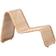 Tito Agnoli Rattan P3 Easy Chair, Pierantonio Bonacina, Italy 1960s