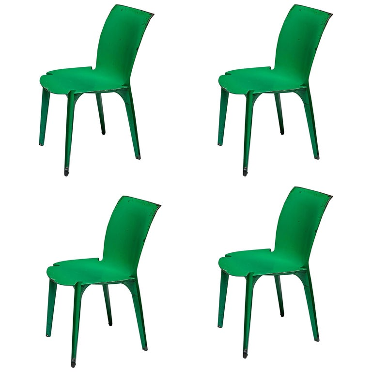"Set of Four ""Lambda"" Chairs by Richard Sapper and Marco Zanuso for Gavina For Sale"