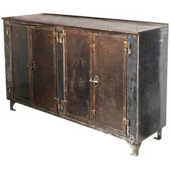 Piece of Furniture in Cast Iron with Two Double Doors, France 19th Century