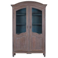 Antique Pale Limed Oak French Louis XV/Louis XVI Period Cabinet, circa 1780