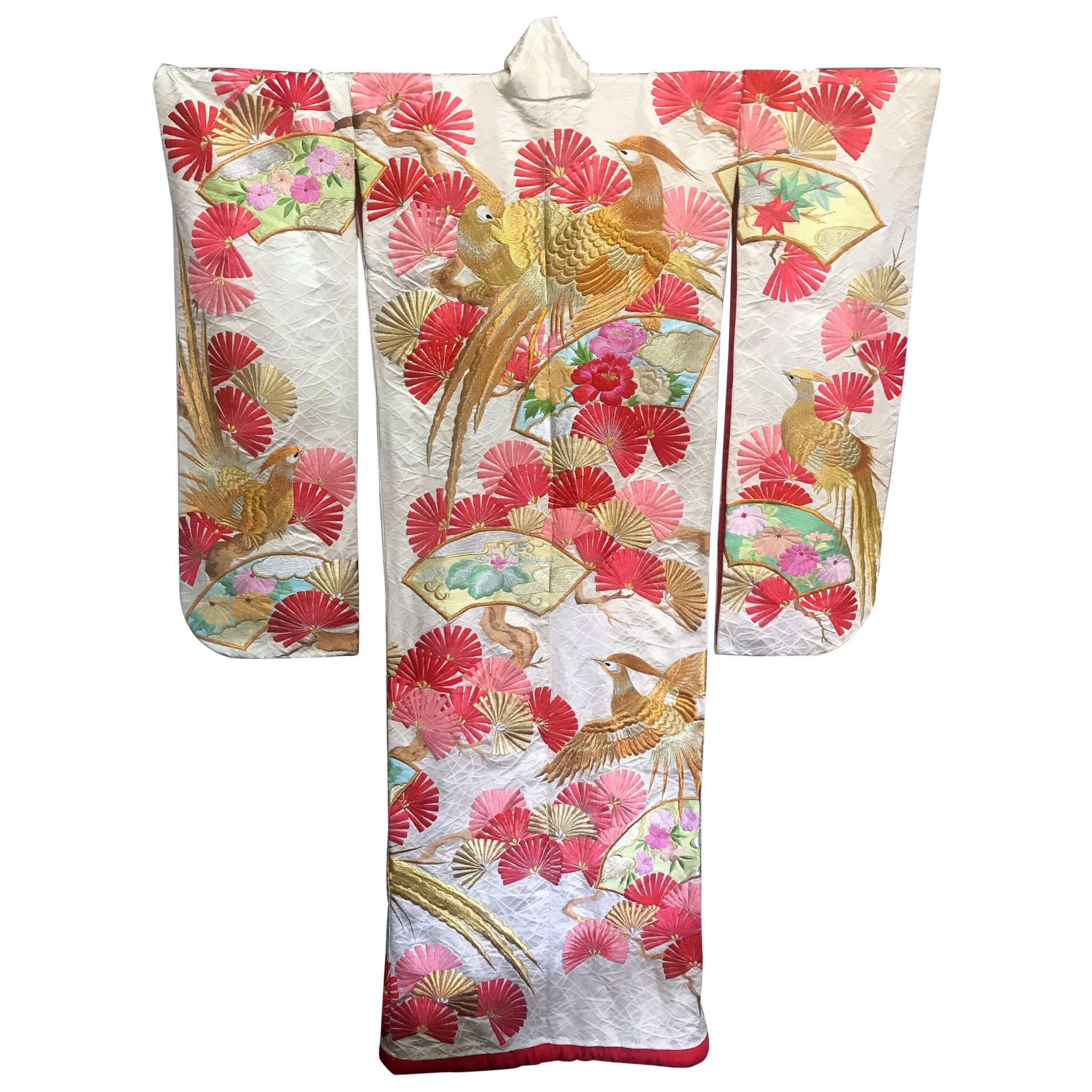 Beautiful Art Deco Style Japanese Ceremonial Kimono