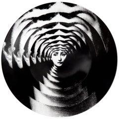 "Fornasetti ""Op Art"" Porcelain Plate, Tema & Variazioni #172"