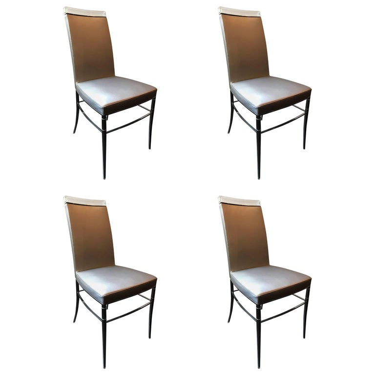 Set of Four Dining Chairs by Philippe Starck for Baccarat