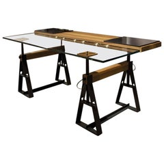 """Can Pau"" Adjustable in Height Trestle Table by Jaume Tresserra for Dessie'"