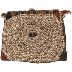 Poli Currency Mat with Nassa Shells Tribal Art from New Guinea