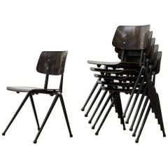 Prouve Style Stacking Industrial School Chairs
