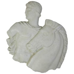 "Frederick Weinberg ""Roman with Steed"" Plaque in Durex"