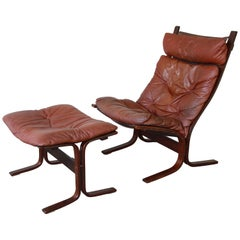 Ingmar Relling for Westnofa Siesta Lounge Chair with Ottoman