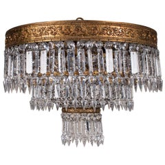 Antique French Empire Style Crystal Chandelier, circa 1900