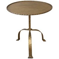 Large Round Gilt Metal Drinks Table