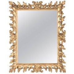Italian Rococo Giltwood Tabletop Vainty Mirror