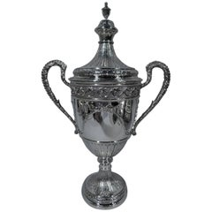 Antique English Neoclassical Sterling Silver Trophy Cup