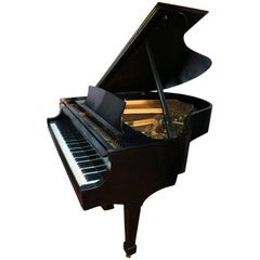 "Steinway M 5'7"" 1980 Satin Ebony Grand Piano, Showroom Condition, One Owner"