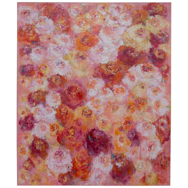 """Summer Roses"", Original Canvas, Sheema Muneer 1"