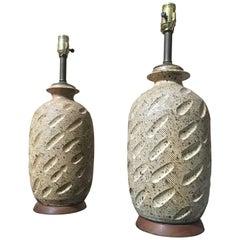 20th Century Ceramic Lamps.