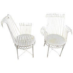 Pair of Mathieu Matégot Armchairs, Model Cap d'Ail