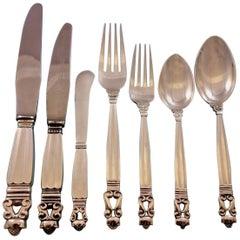 Acorn by Georg Jensen Sterling Silver Flatware Set 12 Service Dinner Huge 156 Pc