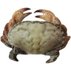 Majolica Crab Box Fives Lille, circa 1900