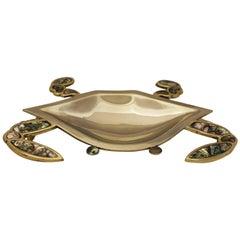 Los Castillo Brass Crab Dish