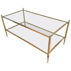 Maison Baguès Coffee Table with Clear Glass Top