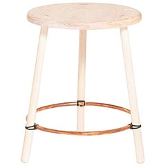 Findhorn Stool by Hinterland Design in Solid Canadian Ash and Copper Rings