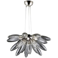 Torpedo Half Sputnik Clear Glass Chandelier
