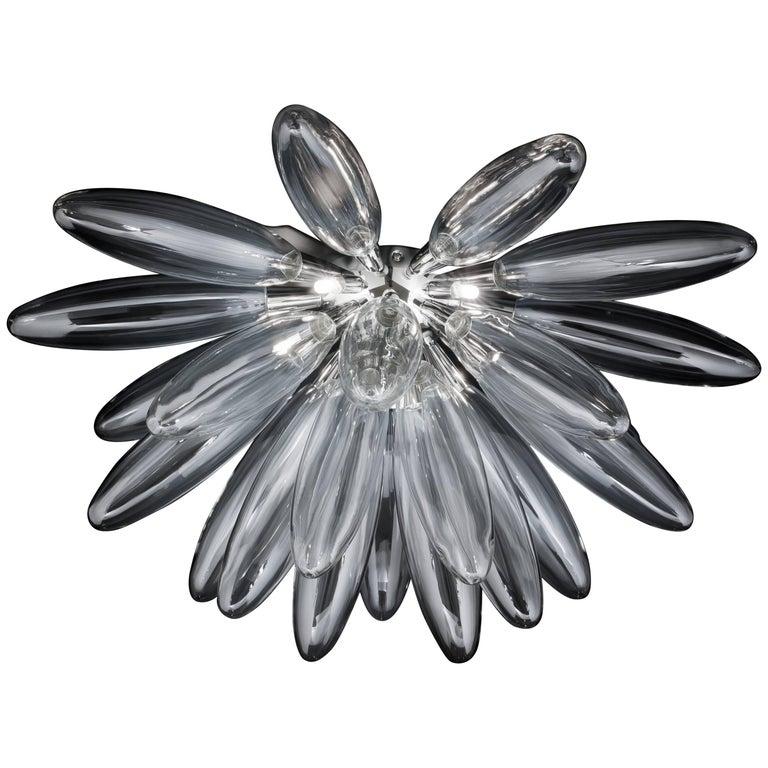 Torpedo Half Sputnik Clear Glass Chandelier