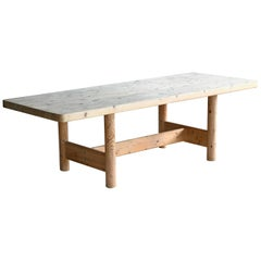 Børge Mogensen Style Long Dining Table in Pine, Danish, Midcentury