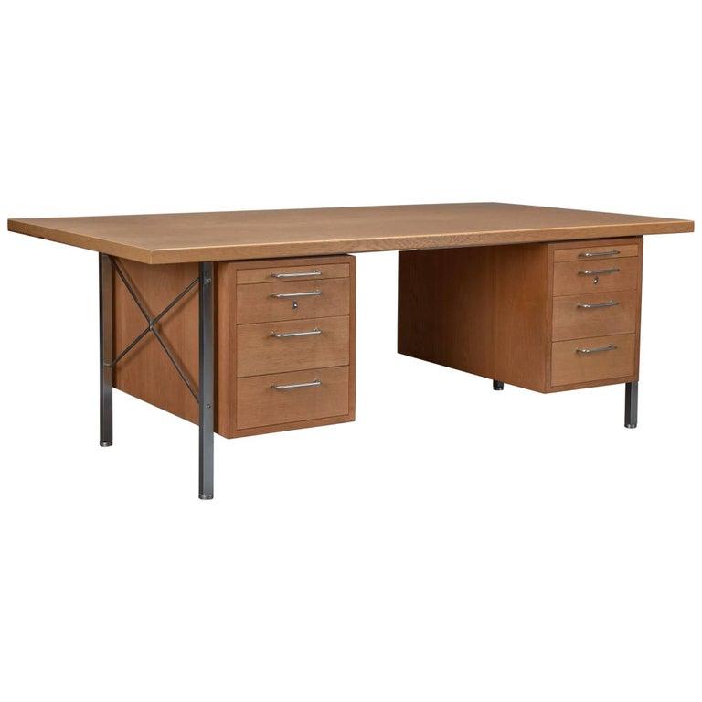 Model A164 Oak Desk by Hans Wegner for Johannes Hansen