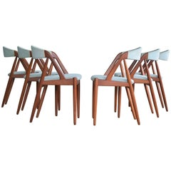 Kai Kristiansen Six Midcentury Teak Dining Chairs Model 31 for Schou Andersen
