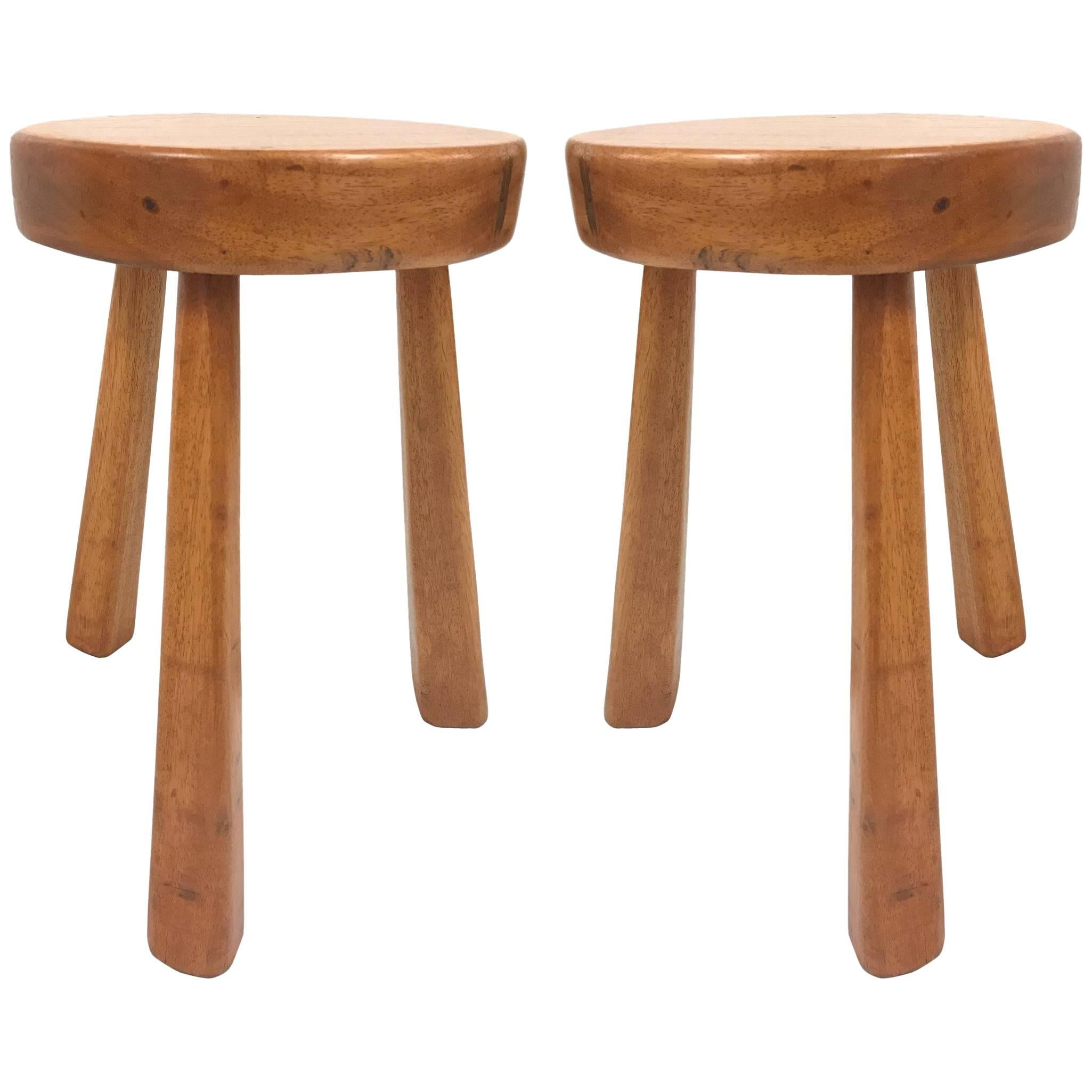 Pair of Charlotte Perriand Stools for Les Arcs