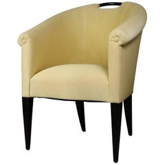 Donghia Delicate Barrel Shaped Armchair by John Hutton