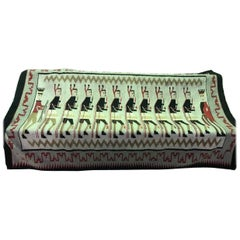 Exceptionally Large Navajo Yei Pictorial Woven Rug/ Blanket