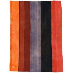 Vintage Anatolian Minimalist Kilim Rug