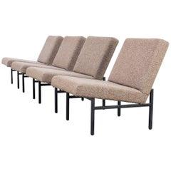 Dutch Design Low Back Fauteuils Attributed to Gijs Van Der Sluis, Set of Four